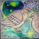 Two Mourning Doves by Lynnette Shelley