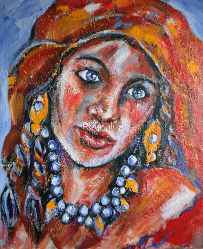 Blue Eyed Gypsy Woman by Reynaldo