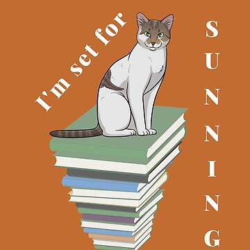 Cat with sunbathing reading  by DAscroft