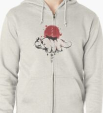 Avatar: the last aribender - sumi-e Zipped Hoodie