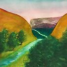 Canyon Stream - original painting by mjh, 2018 by eustacia42