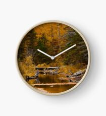 Autumn By a Woodland Stream Clock