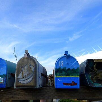 Coastal Mailboxes by Sita