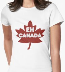 EH CANADA DAY Women's Fitted T-Shirt