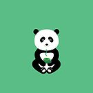Enjoy green tea with the panda by grafart