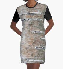 c008ebf106c Birch Bark Texture Graphic T-Shirt Dress