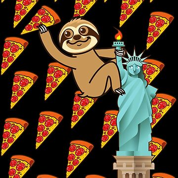 Cute Sloth Pizza NYC by plushism