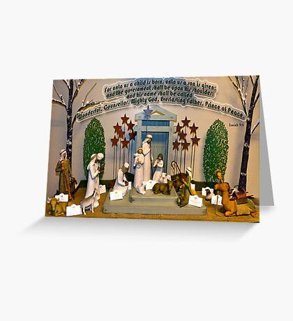 Navitiy Scene Card - Isaiah 9:6 Greeting Card
