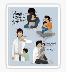 Hugs for the Subject! Sticker