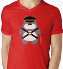 Bear Toy - Leather Polar Men's V-Neck T-Shirt