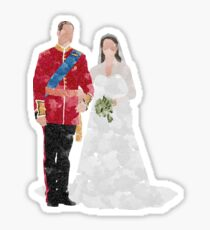 Prince William and Kate Middleton royal wedding Sticker