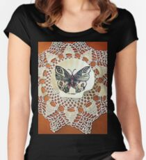 farfalla su merletto  Women's Fitted Scoop T-Shirt