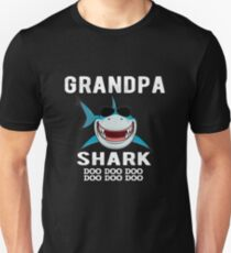 Opa Shark Familie Shark Matching Geschenk Slim Fit T-Shirt