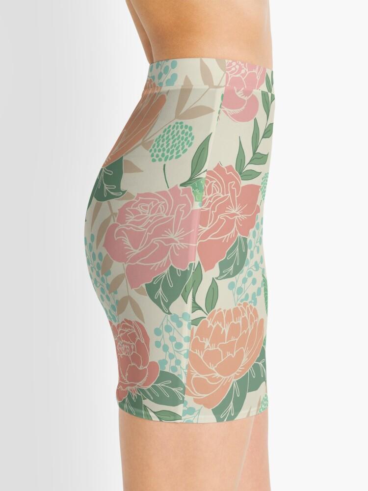 Alternate view of Victorian Flower Garden with Hummingbird Mini Skirt