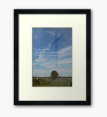 Come Unto Me Framed Print