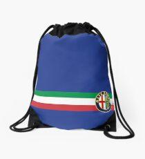 Alfa Romeo horizontal Italy stripe Drawstring Bag