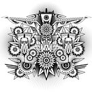 Tribal Pattern Abstract Jungle Masks & Flowers by Bubble-Designs