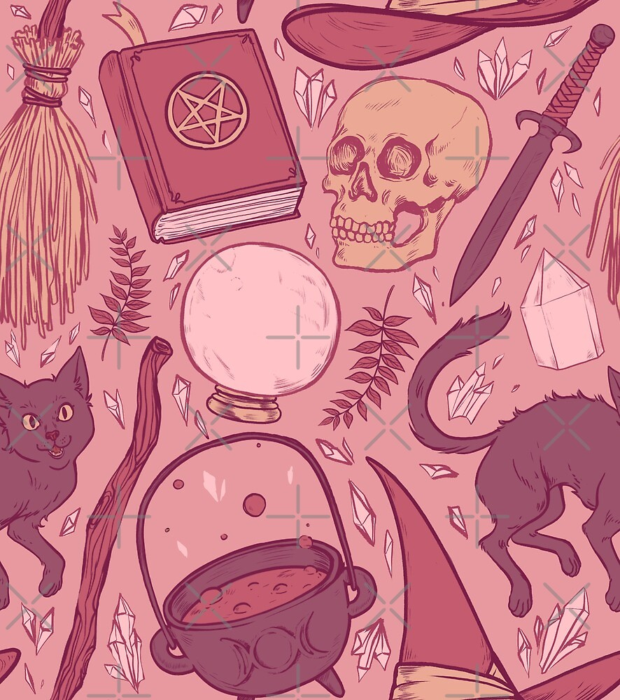 Witch Supplies in Dusty Rose by Paisley Hansen
