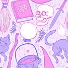Witch Supplies in Pastel  by Paisley Hansen