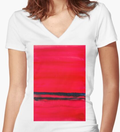 BAANTAL / Lines #2 Fitted V-Neck T-Shirt
