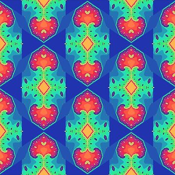 Rainbow Fractal Seamless Pattern 5 by KaleiopeStudio
