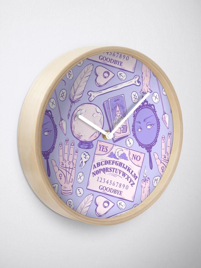 Alternative Ansicht von Weissagung in Pastell Lila Uhr
