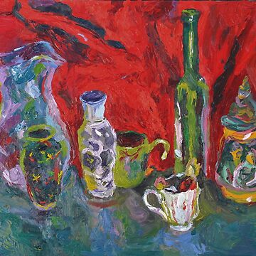 Still Life with Bottles and Cup by ochre67
