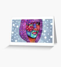 Funky Self Portrait Greeting Card