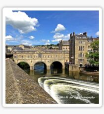 England - Covered Bridge in Bath Sticker
