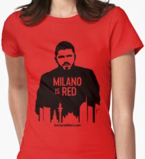 Gennaro Gattuso - Milano is Red Women's Fitted T-Shirt