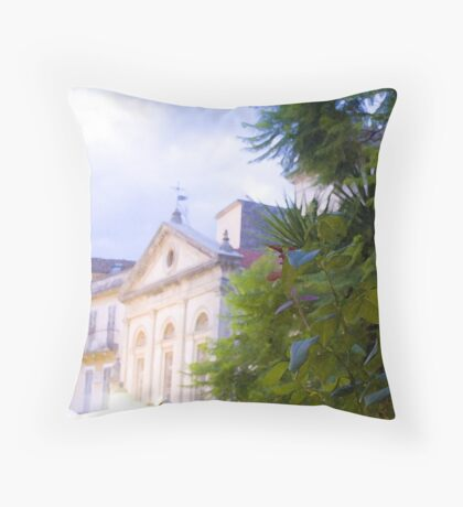 Corfu Town Hall Throw Pillow