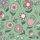Simple Floral Pattern by Pamela Maxwell