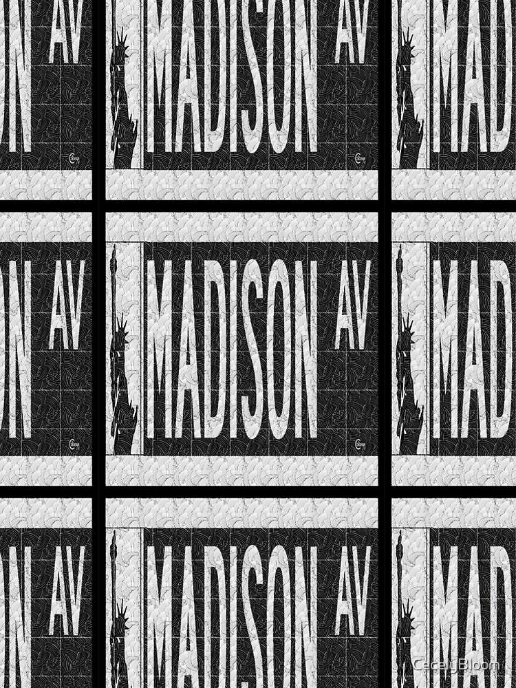 Madison Avenue NYC Pop Art Deco Straßenschild von CecelyBloom