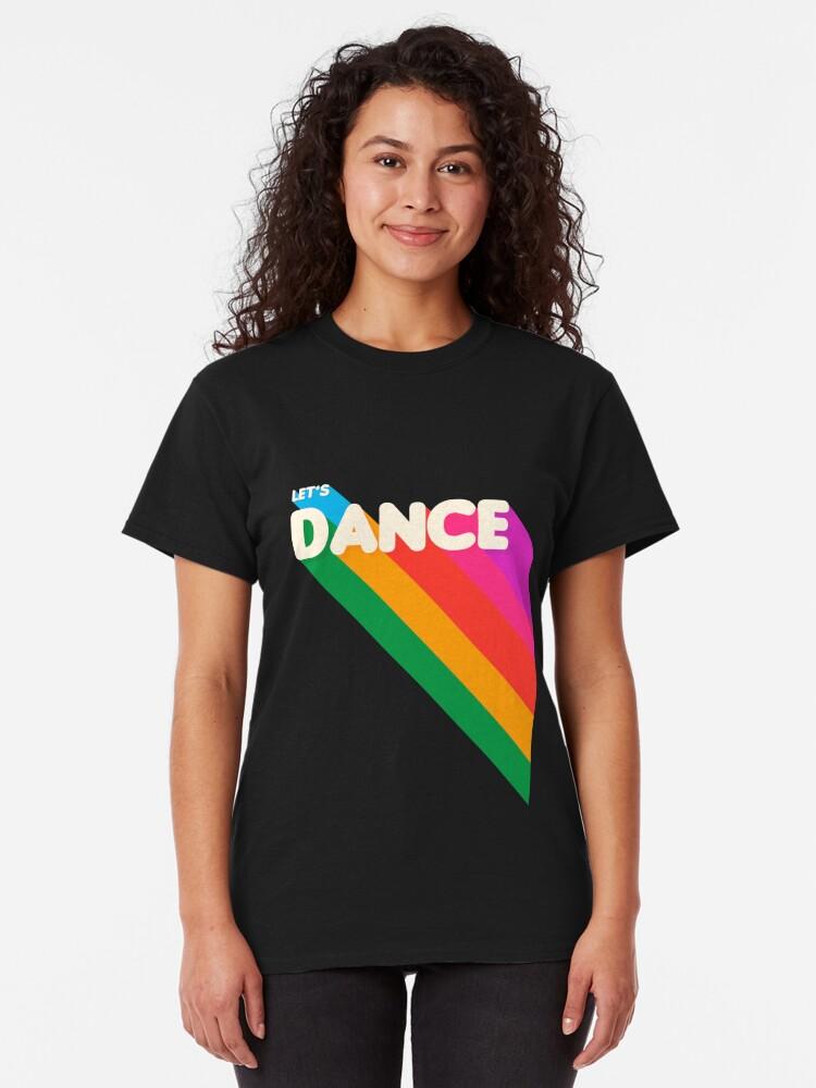 Alternate view of Rainbow dance typography Classic T-Shirt