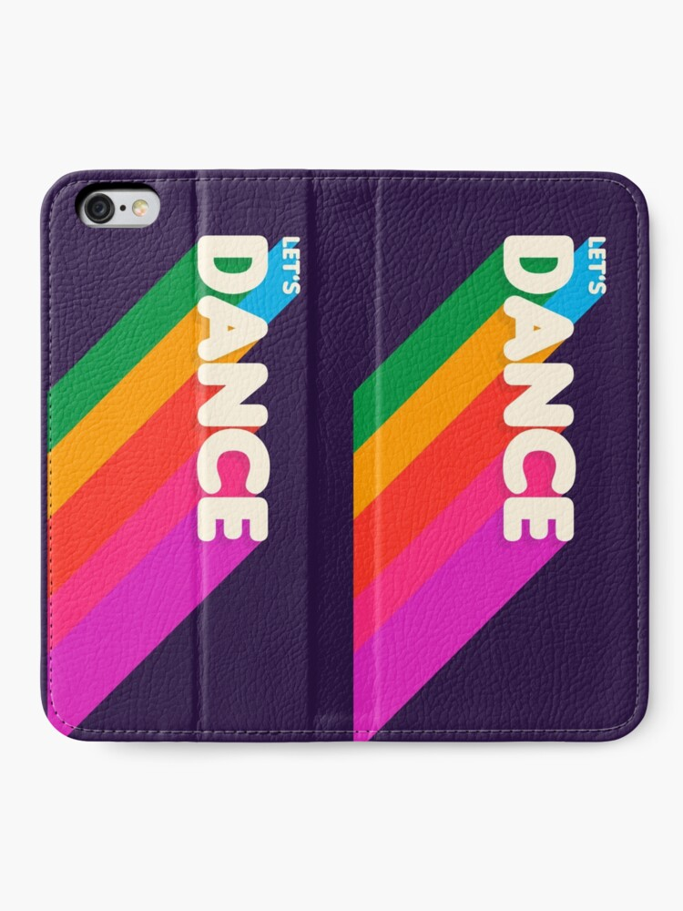 Alternate view of Rainbow dance typography iPhone Wallet