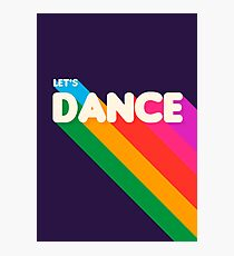 Rainbow dance typography Photographic Print