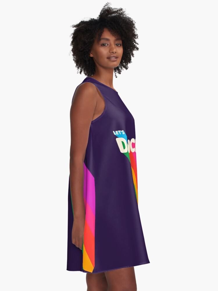 Alternate view of Rainbow dance typography A-Line Dress