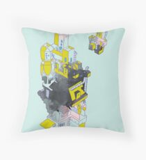 Floating City Gatle Throw Pillow
