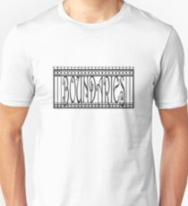 Boundaries fence — Black Unisex T-Shirt