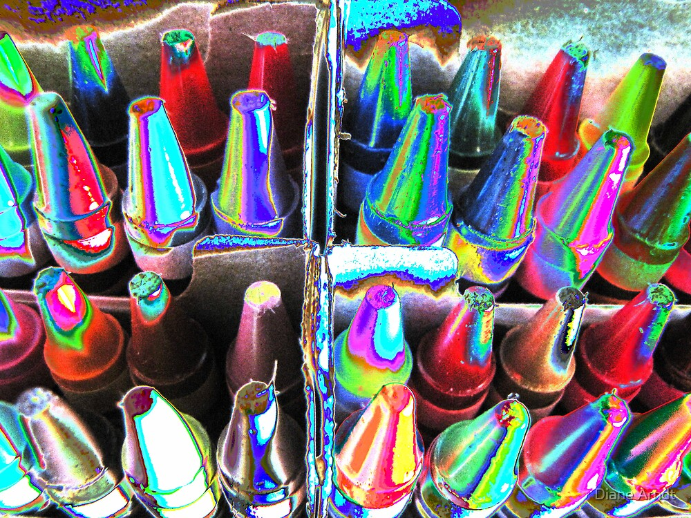 Metallica Crayons by Diane Arndt