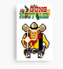 Guns n' bottles Canvas Print