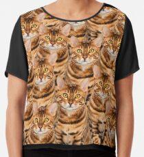 Spectacular Bengal Kitten Design Chiffon Top