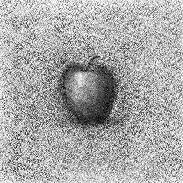 Apple with stipple effect by thebigG2005