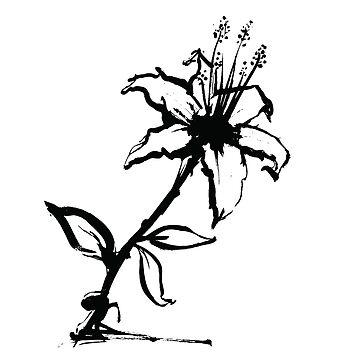Flower in Black by ScrivK