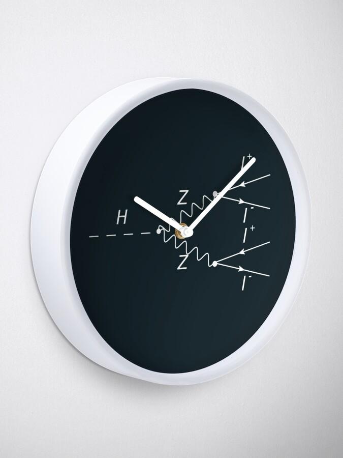 Alternate view of Higgs Boson Physics Geek Science Teacher Clock
