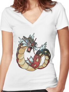 Gyarados - Pokemon Women's Fitted V-Neck T-Shirt