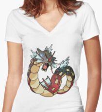 Gyarados - Pokemon Women's Fitted V-Neck T-Shirt