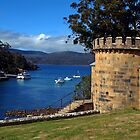 The Guard Tower (1842). Historic Port Arthur, Tasmania, Australia. by Ralph de Zilva