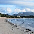Looking Along The Bay To Balnakiel House by Lindamell