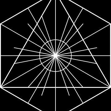 Metatron's Hidden Eye [White Ink] by SirDouglasFresh